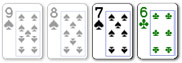 2 card badugi hand with suited cards